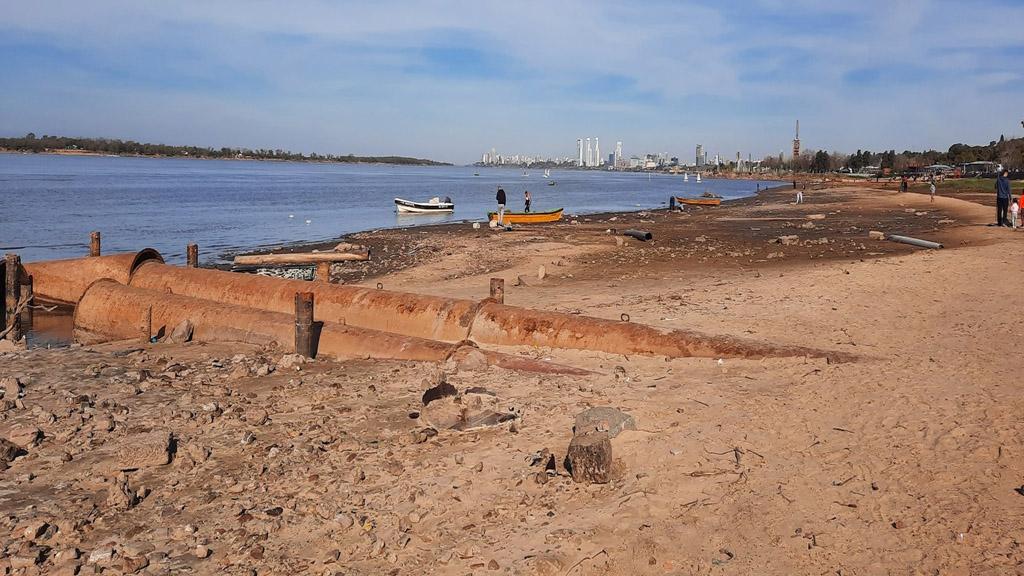 El río Paraná inferior puede alcanzar su nivel más bajo a mediados de la primavera
