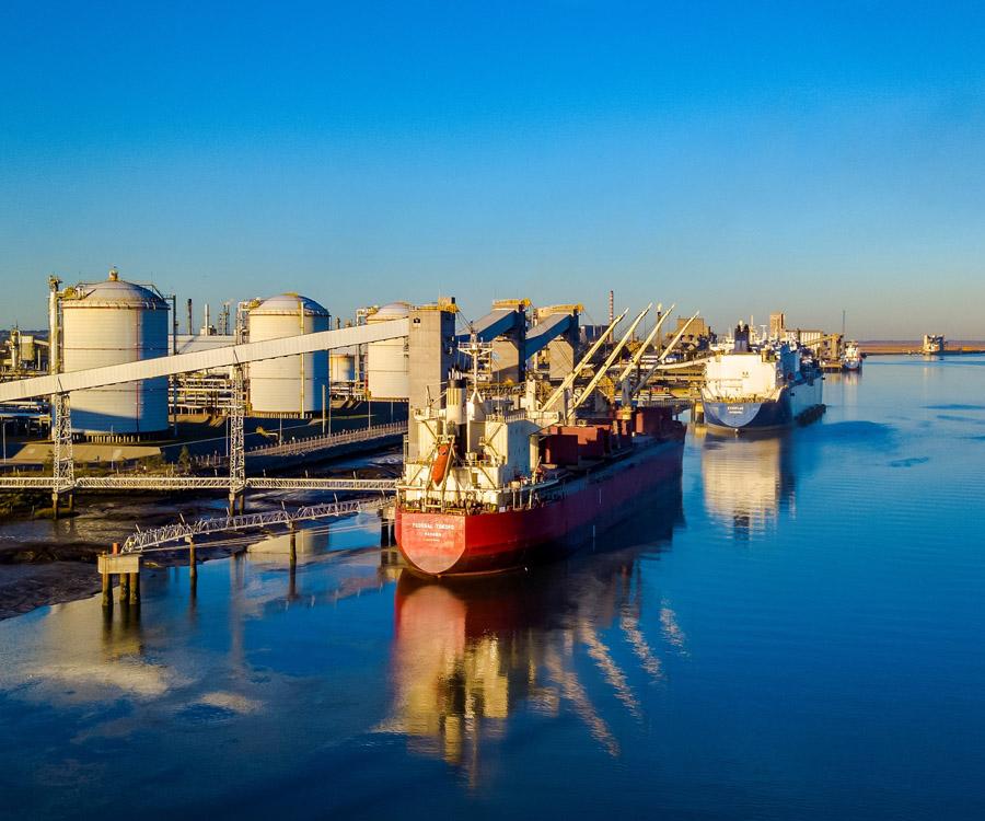 Nuevas marcas históricas para el puerto de Bahía Blanca en el primer semestre