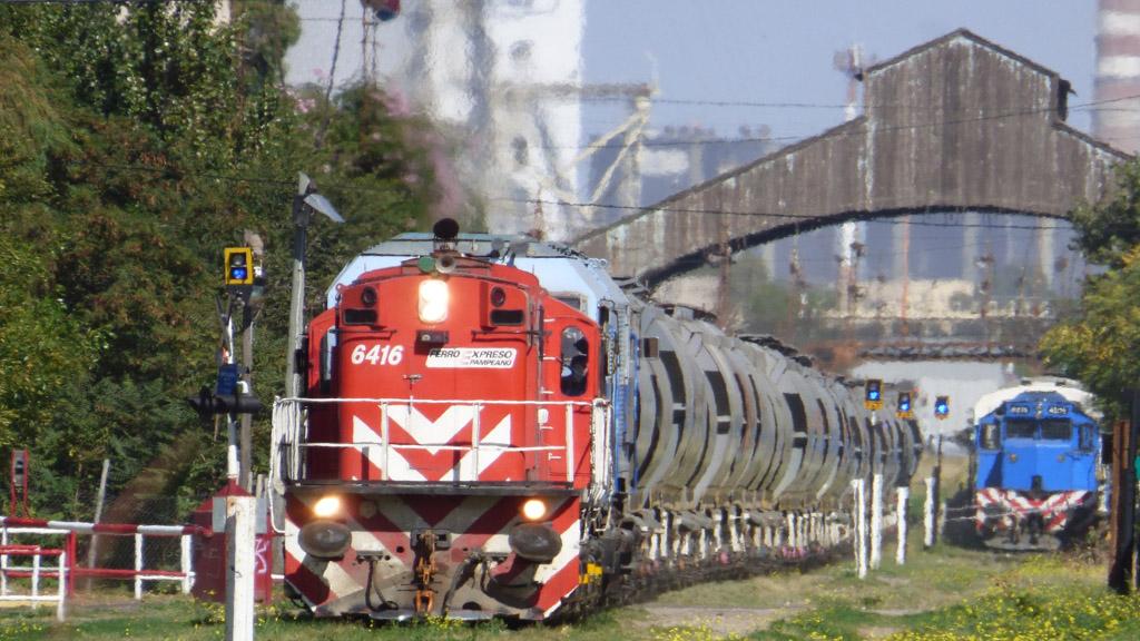Ferroexpreso Pampeano aumentó un 22% su transporte de granos hacia Bahía Blanca