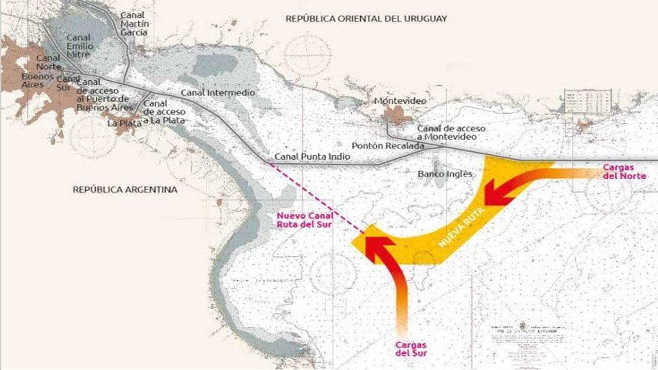 Taiana volvió a defender la importancia del Canal Magdalena en la logística nacional