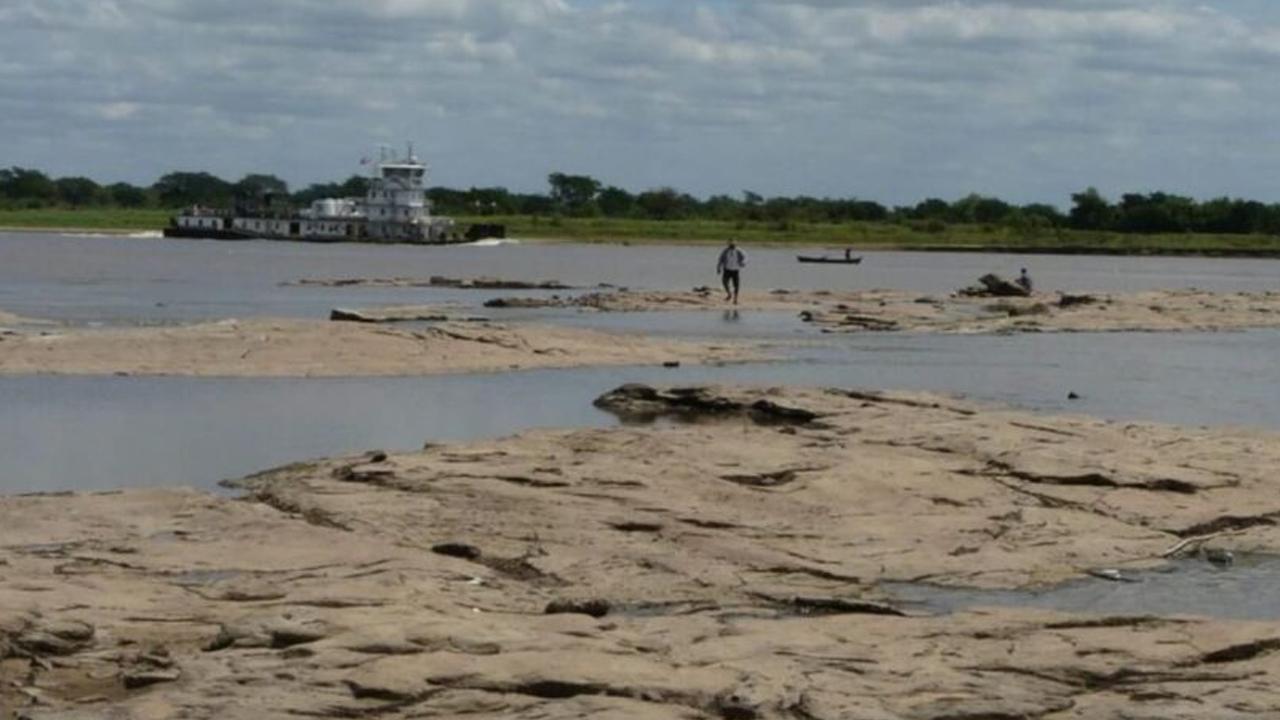 La bajante histórica del río Paraguay ya genera problemas de navegación en varios tramos