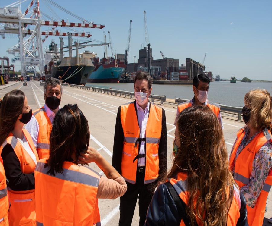 Diputados nacionales del Frente de Todos visitaron el puerto de Buenos Aires