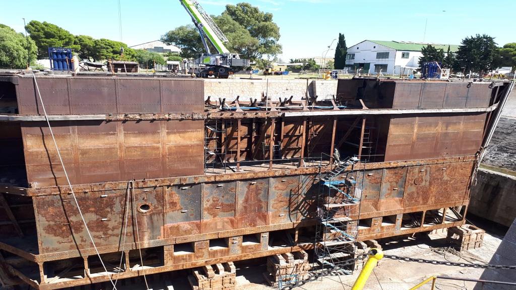 Paso clave para potenciar el dique 2 en la Base Naval de Puerto Belgrano
