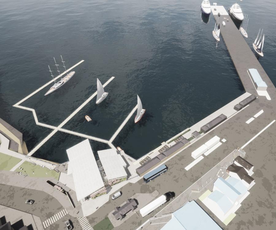 Así será la futura Terminal Marítima de Catamaranes de Ushuaia