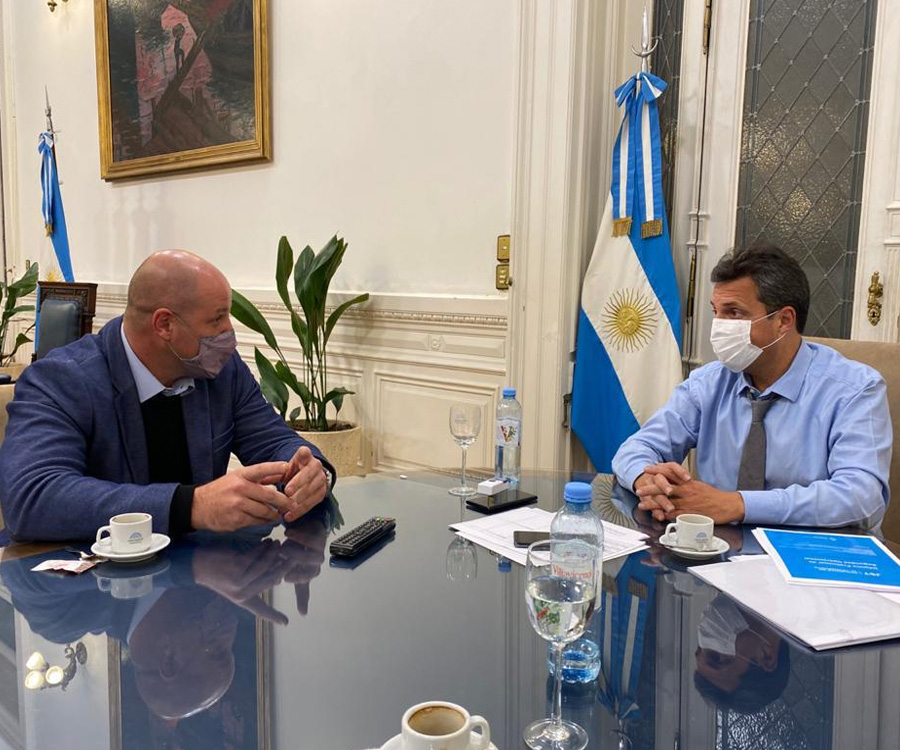 Sergio Massa y Leonardo Salom analizaron mejoras en los puertos argentinos