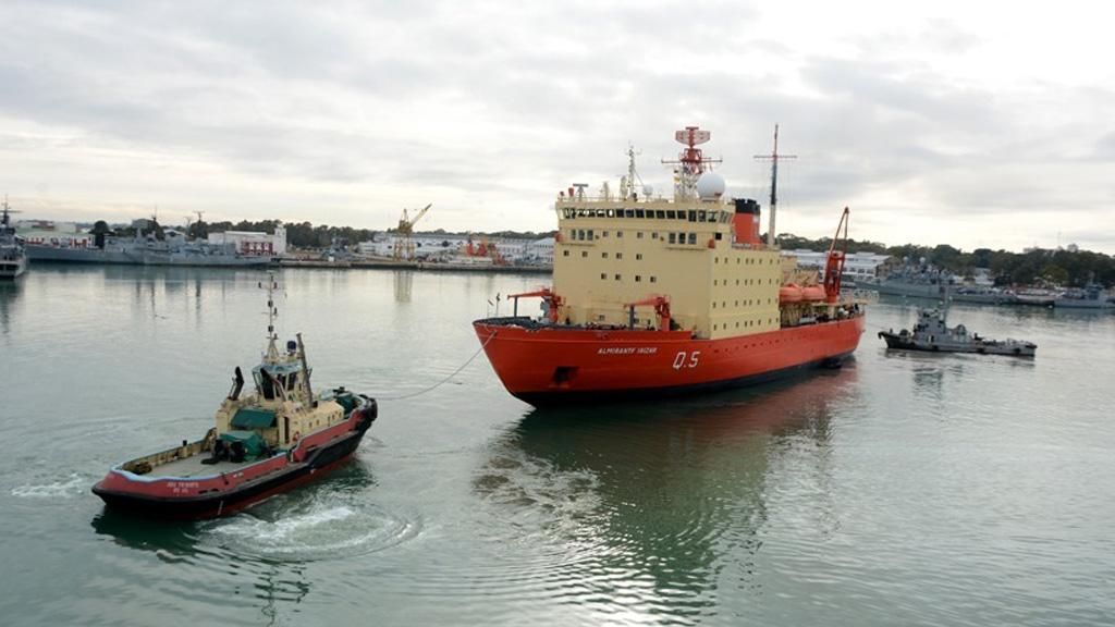 El ARA Almirante Irízar será sometido a tareas de mantenimiento en la base de Puerto Belgrano