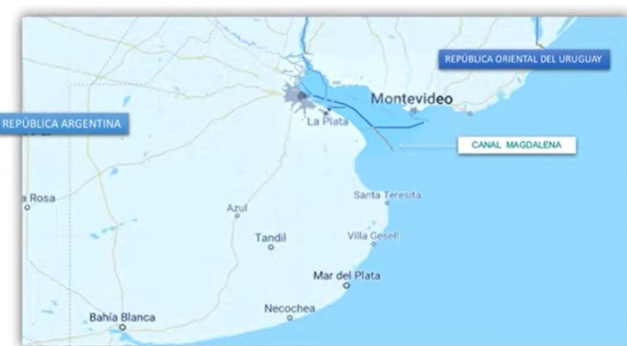 mapa sur magdalena canal